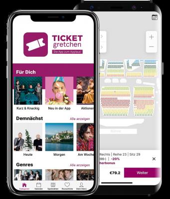ticket gretchen app inhalt und sitzplan